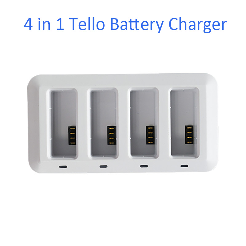 4 in 1 TELLO Battery Charger for TELLO Drone Intelligent Flight Battery Quick Charging Multi Battery Charging Hub4 in 1 TELLO Battery Charger for TELLO Drone Intelligent Flight Battery Quick Charging Multi Battery Charging Hub