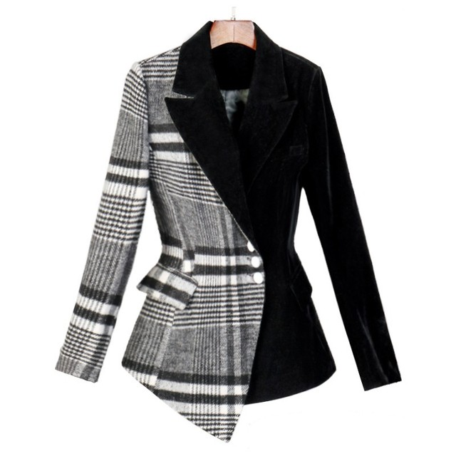 Fashion Blazer - Plaid Print - 4 Sizes 4