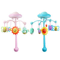 Baby Rattle Infant Toys For 0 12 Months Crib Mobile Bed Bell Toys With Music And Sky Stars Projection Early Learning Kids Toy