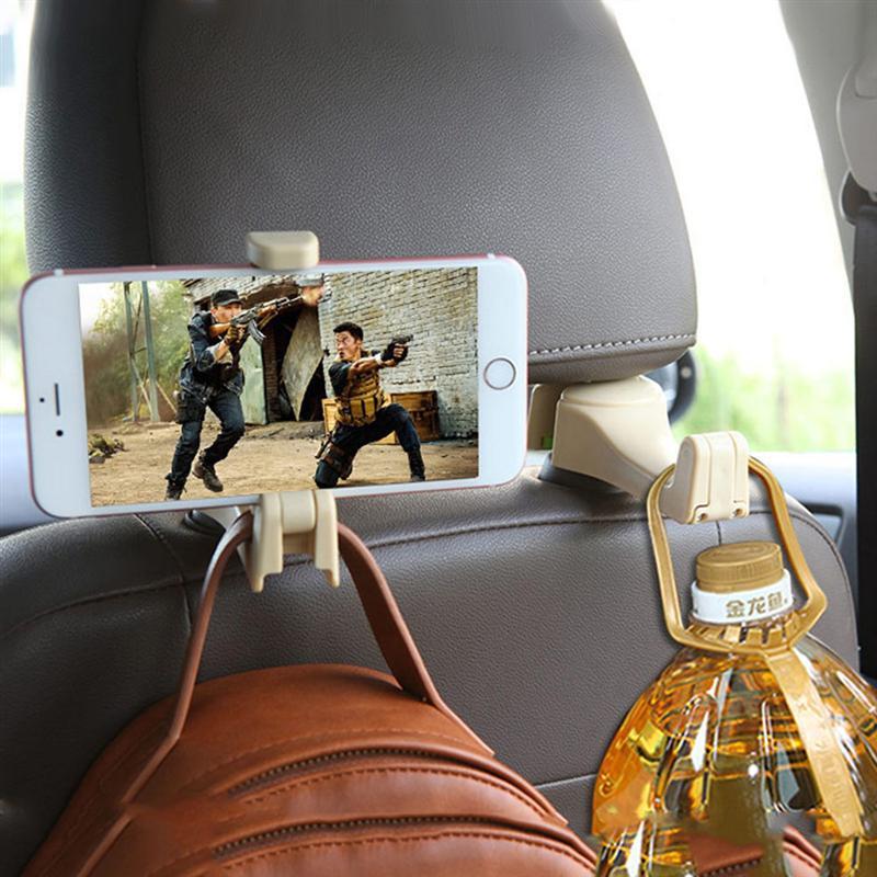 1 Pc Auto Rücksitz Kopfstütze Tasche Telefon Halter Auto Kopfstütze Mount Drehbare Universal Organizer Haken Für Auto Zubehör BüGeln Nicht