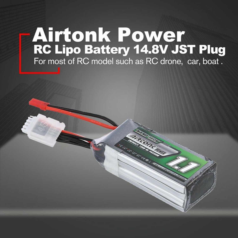 Airtonk 14.8V 1100Mah 30C 4S 1P Lipo Battery Jst Plug For Rc Drone Car