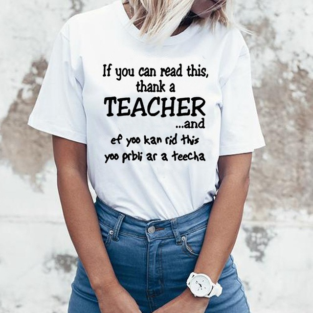 If You Can Read This Thank A Teacher Aesthetic Plus Size Women
