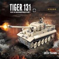 Legoing Military Tank WW2 1018PCS Building Block Tiger Tank Toys For Kids Gift