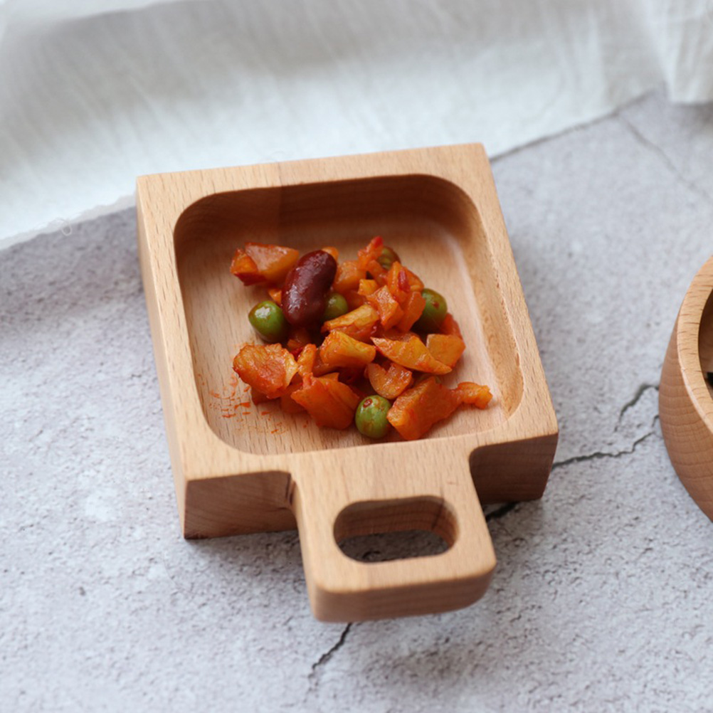 Dish Sauce Seasoning Party Bowls Dipping 1pc Dishes For Home Snack Plate Wooden