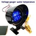 Universal Auto LCD Digital Voltmeter Wasser Temp Gauge Meter DC 12 V/24 V mit Sensor