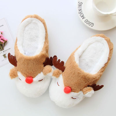 2019 Christmas New year's gift Christmas moose Adult slippers Christmas gift cartoon deer shoes home slippers cosplay