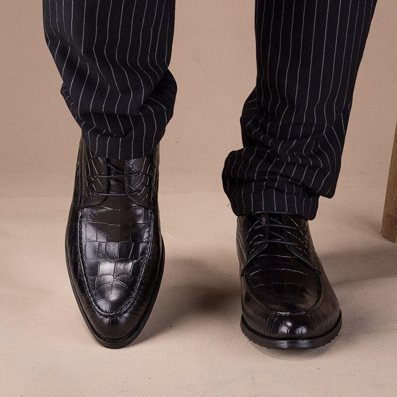 Мужские туфли в деловом стиле из натуральной кожи; Мужские модельные туфли; Мужская Роскошная обувь из воловьей кожи; Мужская Дизайнерская ... - 6