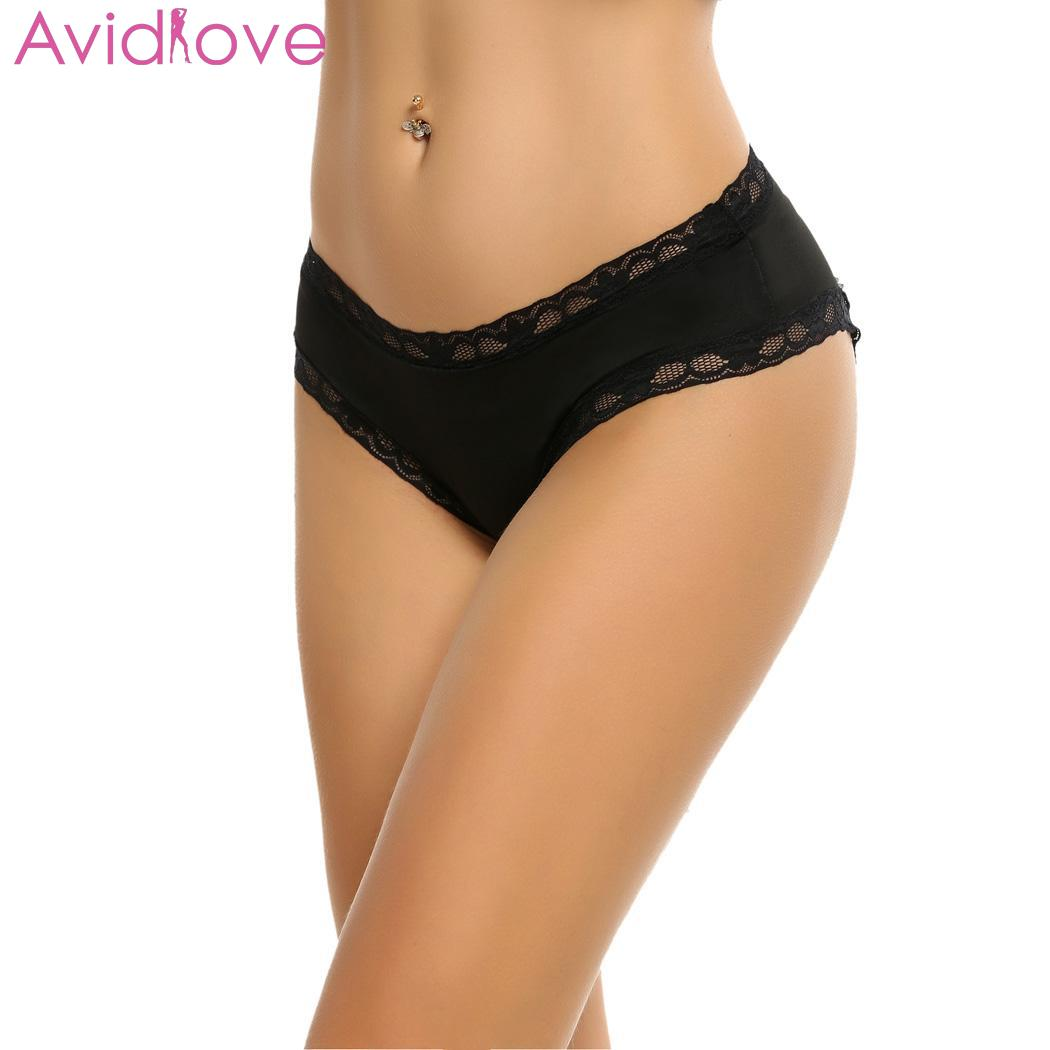 Avidlove Sexy Underwear Sexy Lingerie Women Hoe Erotic Sleepwear Sexy Lingerie Lace-trimmed Crotchless Underwear Party(China)