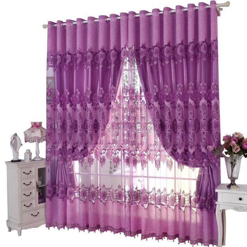 Gordijnen Visillos Vorhang Firanki Kitchen Bedroom Short Rideaux Cortinas De Luxo Para Sala For Living Room Luxury Curtains