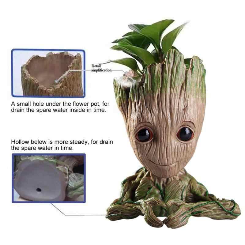 Mode vinyle bébé Groot Pot de fleurs stylo Pot support plantes Pot de fleur mignon figurines d'action jouets pour enfants cadeau décoration de bureau