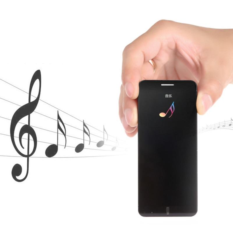 Untra mince téléphone mobile intelligent A7 1.63 pouces écran tactile clé double bande simple SIM bar téléphone portable Bluetooth Radio MP3 MP4 lecteur