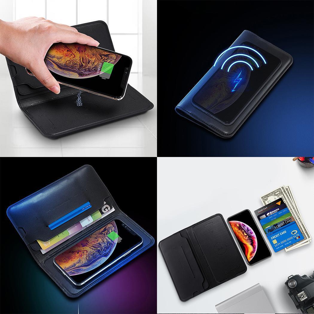 Batterie externe sans fil Durable grande capacité double USB sans fil 8000 mAh puissance environ 8mm banque portefeuille puissance Mobile