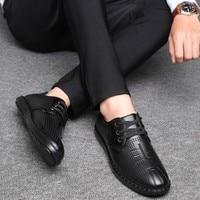 Qzhsmy Italian Mens Shoes Basic Light Hot Style Soft Designer Social Formal Shoe Leisure Lace up New Men Shoe