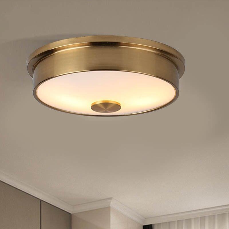 Led אור מלון סלון תקרת אור מעבר חדר שינה מרפסת עגול מודרני פשוט זכוכית ברזל מנורה-בנברשות מתוך פנסים ותאורה באתר Shop4935053 Store
