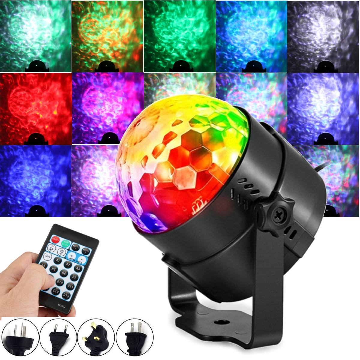 15 Color DJ Disco Ball Lumiere 9W Sound Activated Laser Projector RGB Stage Lighting Effect Lamp Light Music Christmas KTV Party15 Color DJ Disco Ball Lumiere 9W Sound Activated Laser Projector RGB Stage Lighting Effect Lamp Light Music Christmas KTV Party
