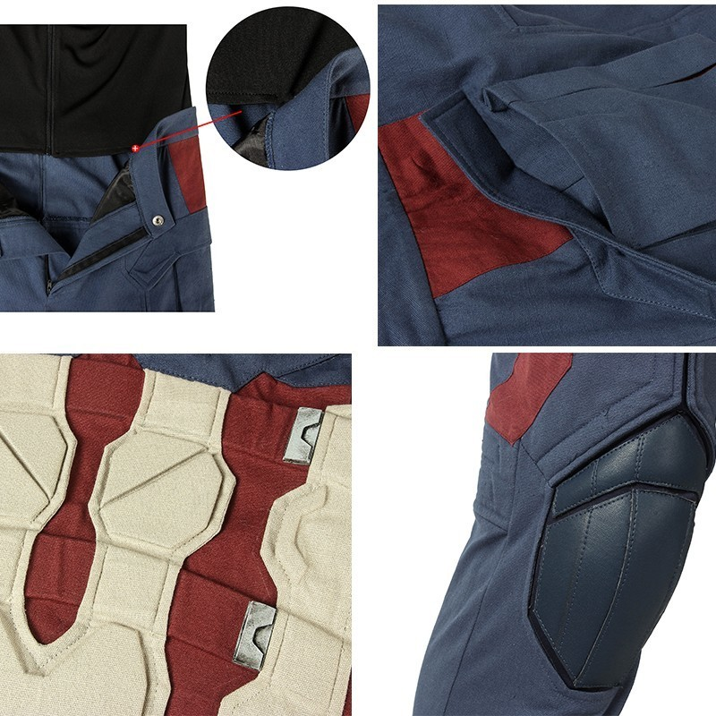 Avengers 4 Endgame Captain America Costume Steven Rogers Cosplay Quantum Realm Adult Full Set Boots Halloween Christmas Carnival in Movie TV costumes from Novelty Special Use