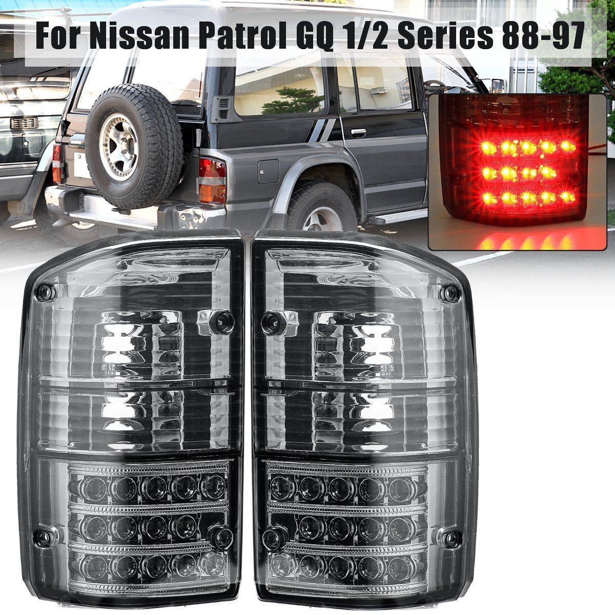Pour Nissan Patrol GQ 1/2 Série 1988 1989 1990 1991 1992 1993 1994 1995 1996 1997 Paire Arrière feu stop Lampe Lampe De Queue
