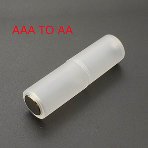 4 Pcs AAA to AA Size Cell Battery Converter Adapter Adaptor Batteries Holder Plastic Case Switcher Wholesale(China)
