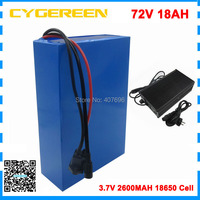 2000W 72V battery pack 72V 18AH electric bike batttery 72V Lithium battery with 30A BMS+84v 2a charger for 1000W 1500W motor