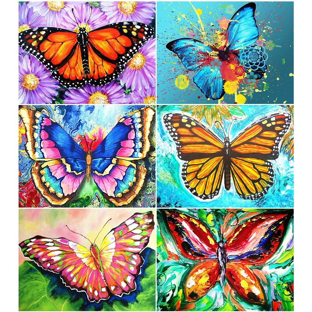 HUACAN Full Square Diamond Painting Flower 5D Diy Diamond Embroidery Butterfly Home Decoration Picture Mosaic Rhinestone HUACAN Full Square Diamond Painting Flower 5D Diy Diamond Embroidery Butterfly Home Decoration Picture Mosaic Rhinestone