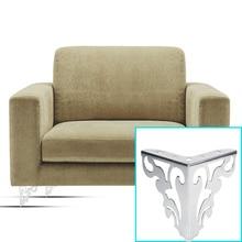 Retro estilo hueco Metal pulido sofá patas muebles esquina Protector Mesa gabinete cama sofá pierna pies muebles Accesorios