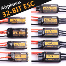 Vgood Tanpa Sikat ESC 6A/12A/20A/30/40A/60A/80A/100A/120A 2S 32-Bit dengan 1.5A Sbec untuk Fixed Wing Pesawat RC Spare Part(China)