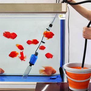 Image 2 - حوض السمك الكهربائية سيفون تعمل خزان الأسماك ماكينة تنقية الرمال فراغ الحصى مبدل المياه سيفون منظف المرشّح أدوات خزان الأسماك