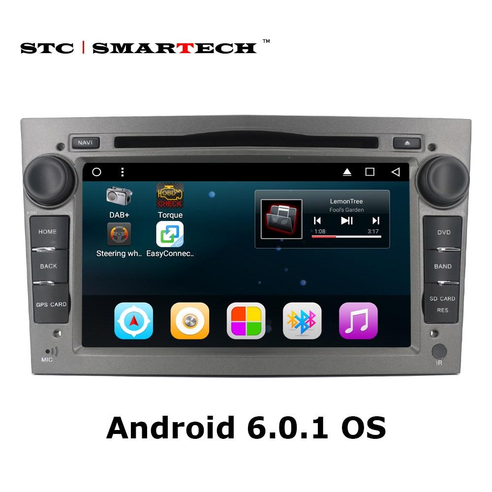 2 din Android 6.0.1 Voiture DVD Lecteur Multimédia de Navigation GPS pour Opel Astra H G J Antara VECTRA ZAFIRA Vauxhall avec CAN-BUS