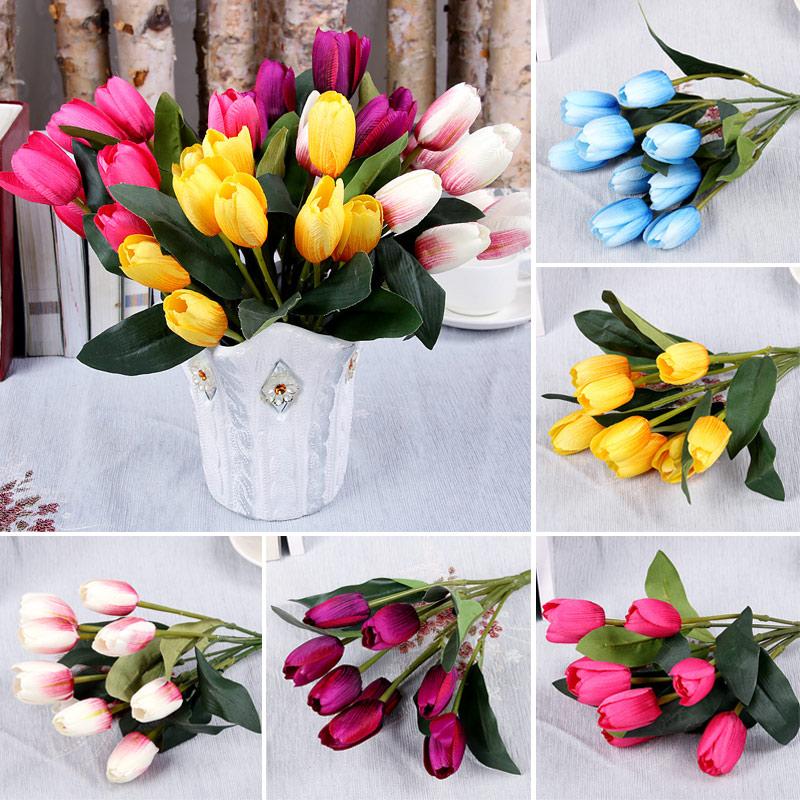 Fake Tulip Flower Lifelike 9 Heads Artificial Flower ...