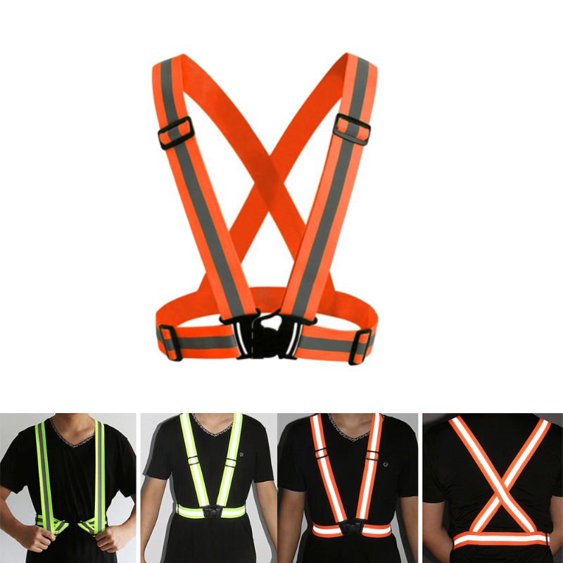 Adjustable Safety Security High Visibility Higher Flexibility Nylon Reflective Vest Gear Stripes Jacket