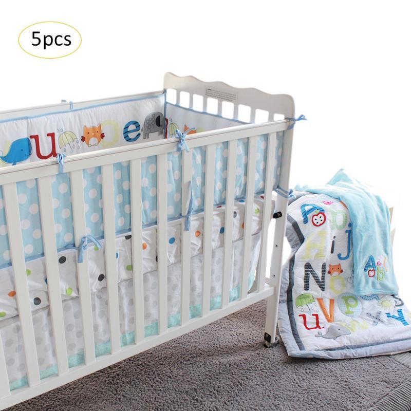 100% QualitäT Baby Bett Produkte Neueste Cartoon Neue Frühen Bildung Buchstaben Baby Dreidimensionale Gestickte Bettwäsche Fünf-stück QualitäT Zuerst