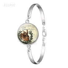 Charm Cute Rabbit Bracelet  Handmade Glas Bangle Jewelry Gifts Female Party Accessories