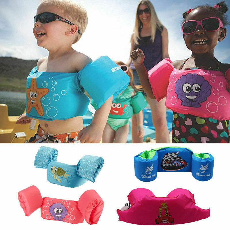 New Puddle Jumper Swimming Deluxe Cartoon Life Jacket Safety Vest For Kids Baby Swimming Pool Wear Float Safe New