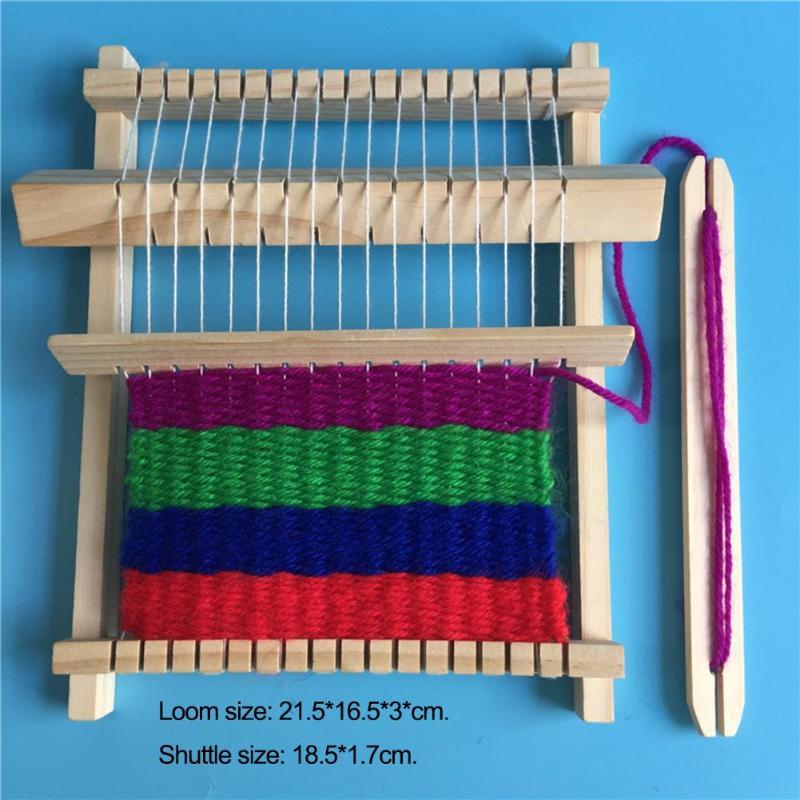 Kids DIY Craft Yarn Needlework Scarf Hand Knitting Machine Children Handmade Loom Stitching Tool Model Assembled Toys Education