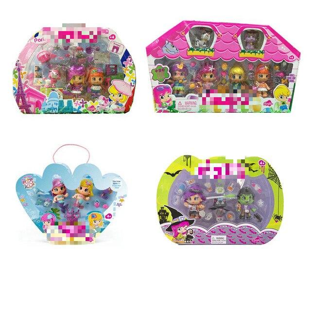 Alta Qualidade 1 Definir Linda Boneca Pinypon Brinquedos Bonecas Perfumadas Destacável Crianças Toy Figuras de Ação Brinquedos Boneca Fashion Girl com caixa