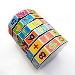 Пластиковые цилиндрические дети наука и Образование головоломки игрушки Цифровой Рубик's декомпрессионный куб математические Кубик
