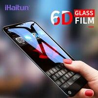 IHaitun 6D Glas Für iPhone XS MAX XR X Glas Kalten Carving Gebogen Gehärtetem Glas Für iPhone X 10 7 8 Plus Screen Protector Film