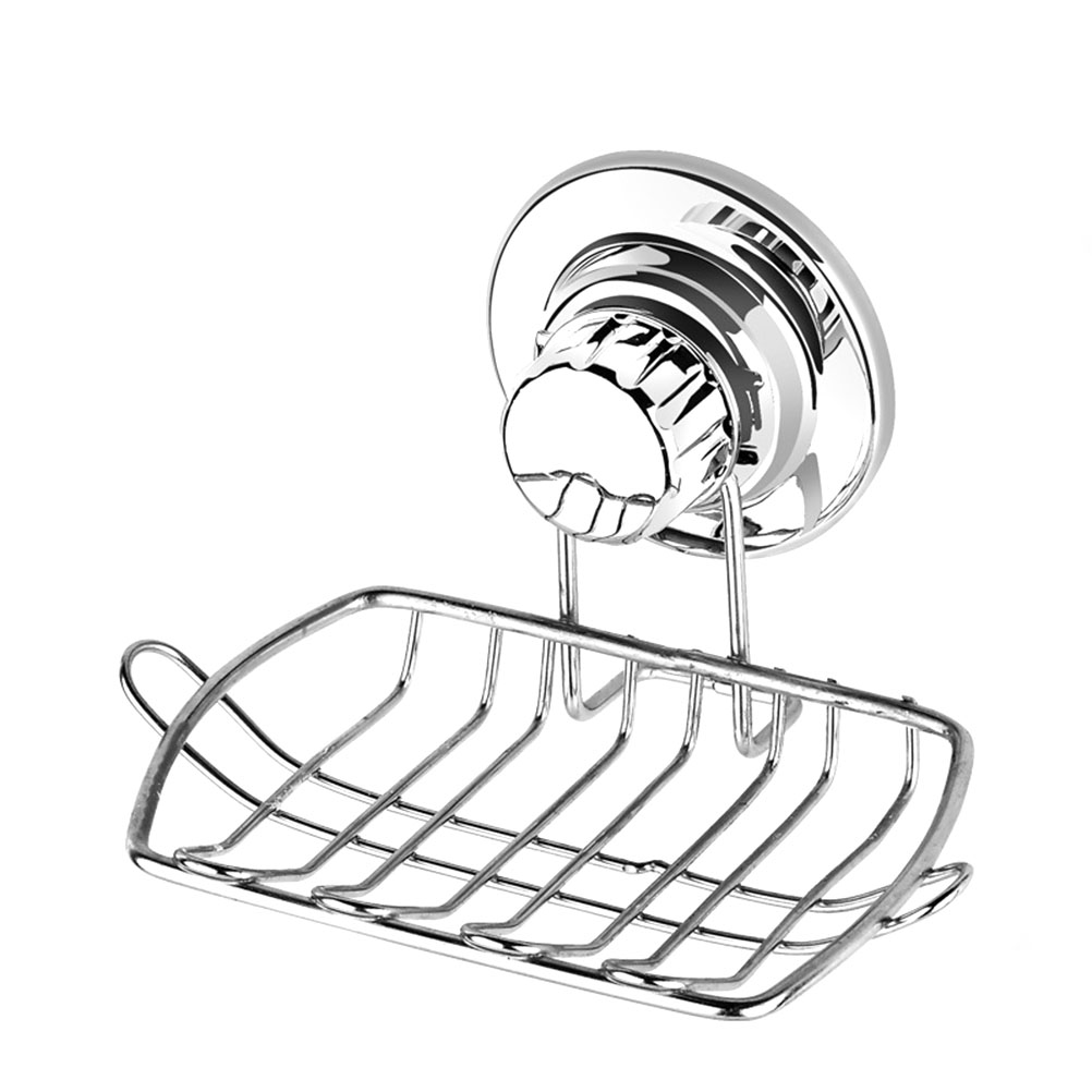 Smile Monkey Soap Holder Dish Bathroom Shower Storage Support Stand Stainless Steel Small Square Soap Dishes Bathroom Fixtures Soap Dishes
