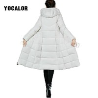 6XL Plus Size Winter Clothes Long Coats Female Coat Quilted Hooded Jacket Women Warm Parka Feminina Outerwear Duck Snow Wear