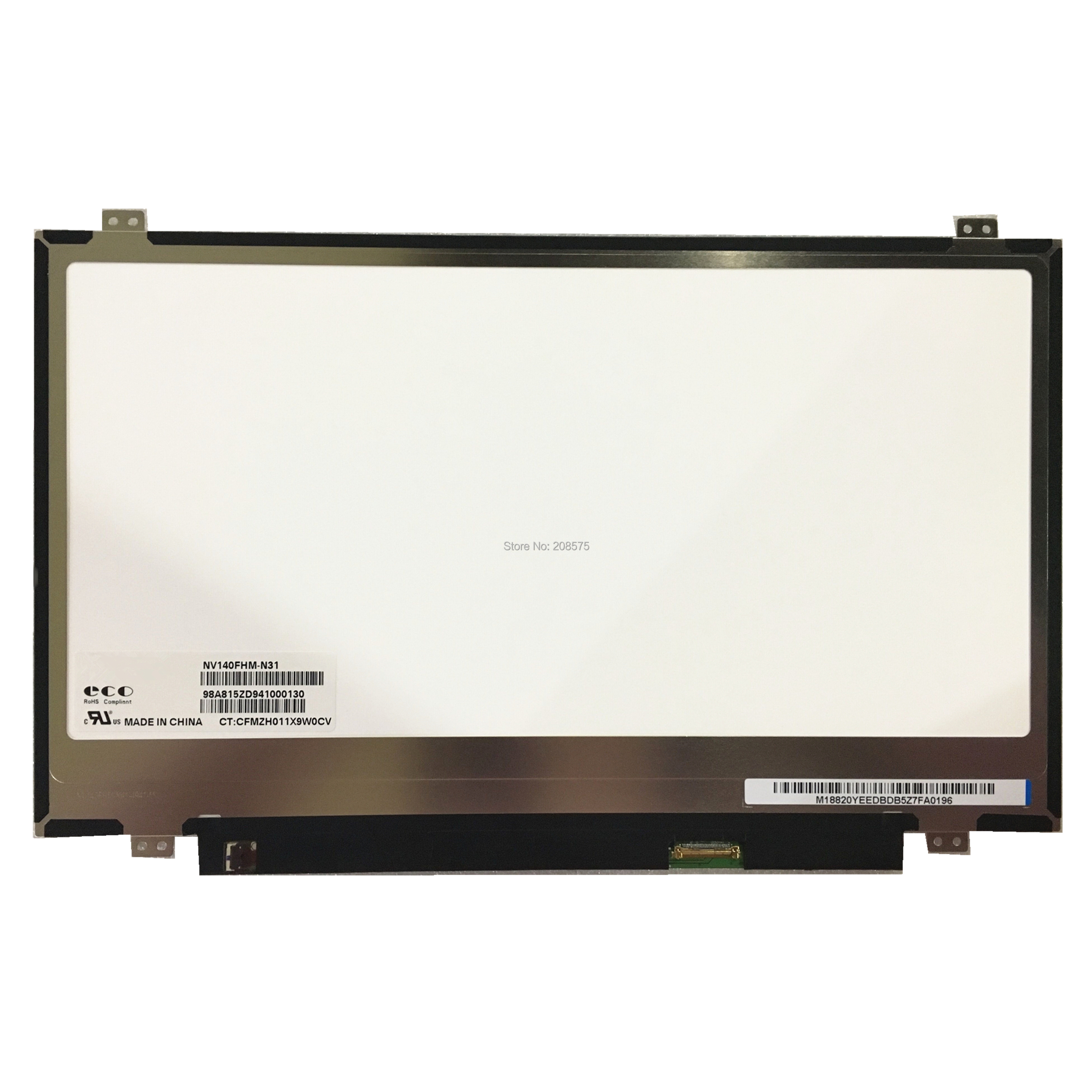 Free Shipping NV140FHM N31 NV140FHM N41 14 inch LCD LED SCREEN Display 1920 1080 EDP 30