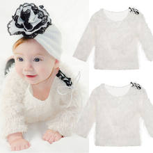2018 Autumn Winter Newborn Girl Baby Kid Tops Solid Long Sleeve Knit Sweaters Fashion Cute Princess Clothes Outfits 0-4T(China)