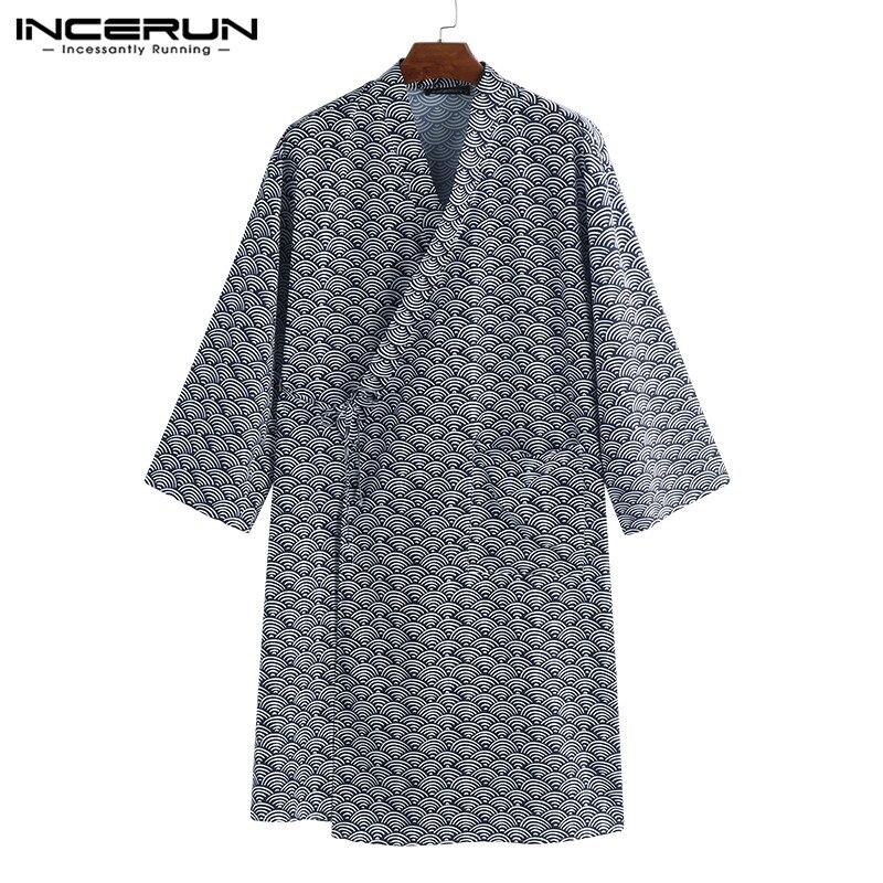 RüCksichtsvoll Incerun Komfortable Kimono Robe Lose Baggy Lounge Harujuku Masculina Robe Pyjamas Männer Bademantel Nachtwäsche Bad Nachtwäsche Kleidung Attraktive Designs;