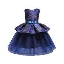Girls Dress Princess Dress Elegant Sleeveless Printing Evening Dress Summer Kids Children Clothes 2019 Free Shipping