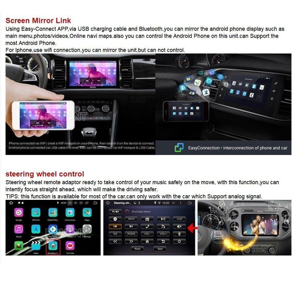 Estéreo do carro 7 ips android 9.0
