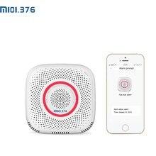 "LM101.376 WiFi גז גפ""מ דליפת אזעקה בית אבטחה גבוהה רגיש גלאי אש חיישן עבור טלפון נייד שלט רחוק"