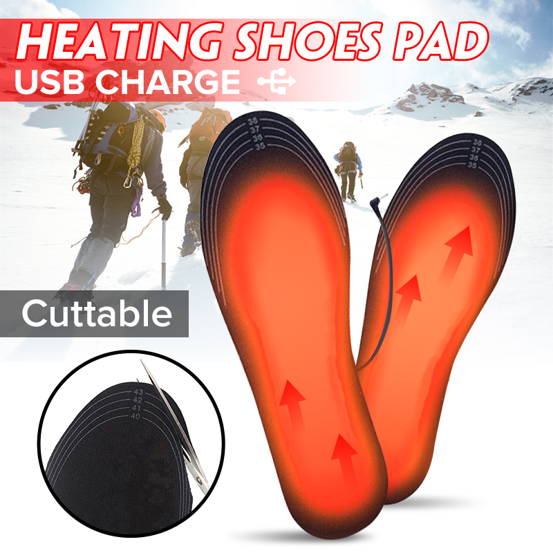 1Pair Cuttable Powered Electric Heated Shoe Insoles Foot Warmer New Winter USB Charger Heating Insole For for Outdoor Camping1Pair Cuttable Powered Electric Heated Shoe Insoles Foot Warmer New Winter USB Charger Heating Insole For for Outdoor Camping