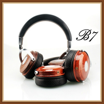 BLON BOSSHIFI B7 Wooden Headphones Headset DJ Metal Hifi Headphone Stereo Open Monitor Earphone With Beryllium Alloy Driver