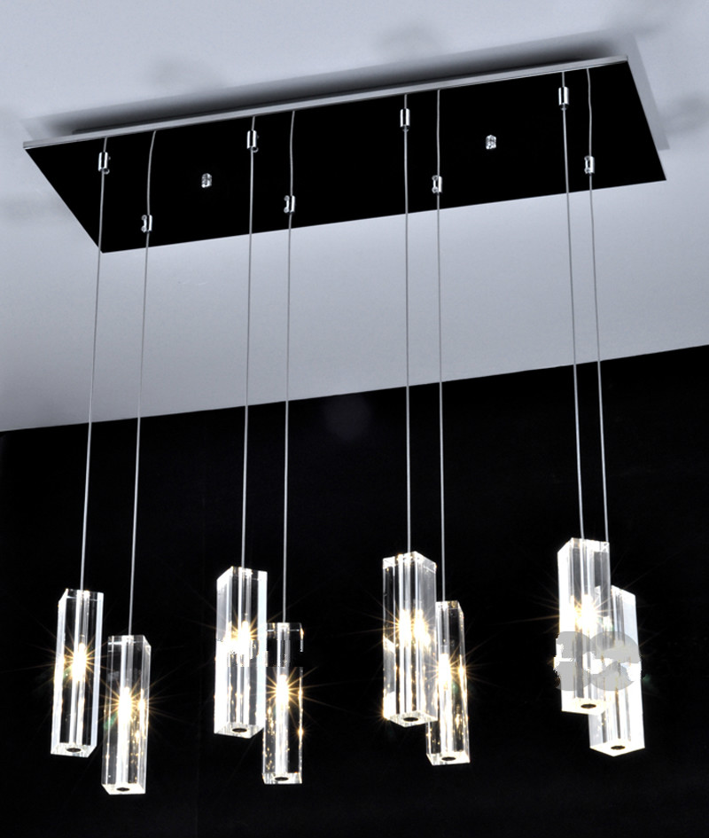 Modern Minimalist Dining Room Lamp Chandelier 5 Head /8 Creative Crystal Chandelier Bar Chandelier Dining Room Lamps