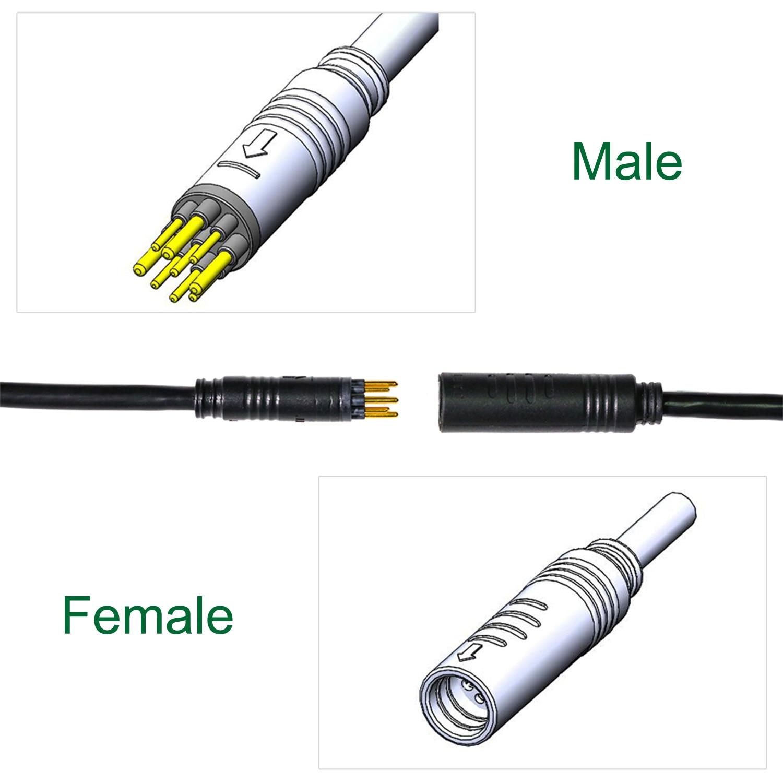 EJOYQI Wasserdichte Motor Verlängerung Kabel 1,2 1,5 Platz 250W 350W 600mm 1250mm 1600mm 1750mm 2000mm für Hub Motor Conversion Kit