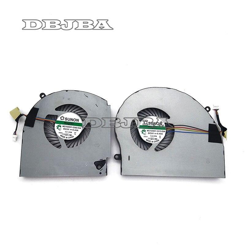 Ventilateur pour Dell Alienware 17 R4 R5 ALW17C CPU + GPU ventilateur MG75090V1-C070-S9A MG75090V1-C060-S9A ventilateur de refroidissement